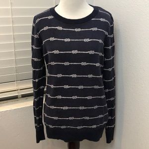 Old Navy Rope Knot Sweater in Navy